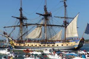 L'Jermione, 213-foot light frigate